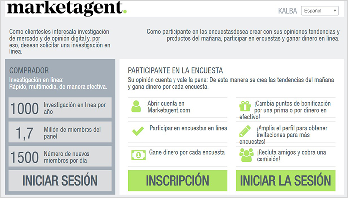 review en español de la app marketagent