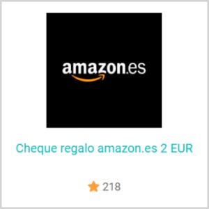 Cambia tus puntos por cheques regalo de Amazon