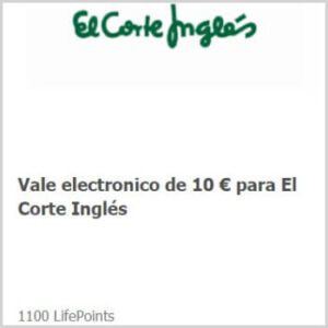 Canjea tus LifePoints con Vales de El Corte Inglés