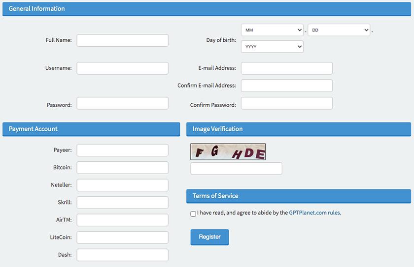 como registrarse en GPTPlanet